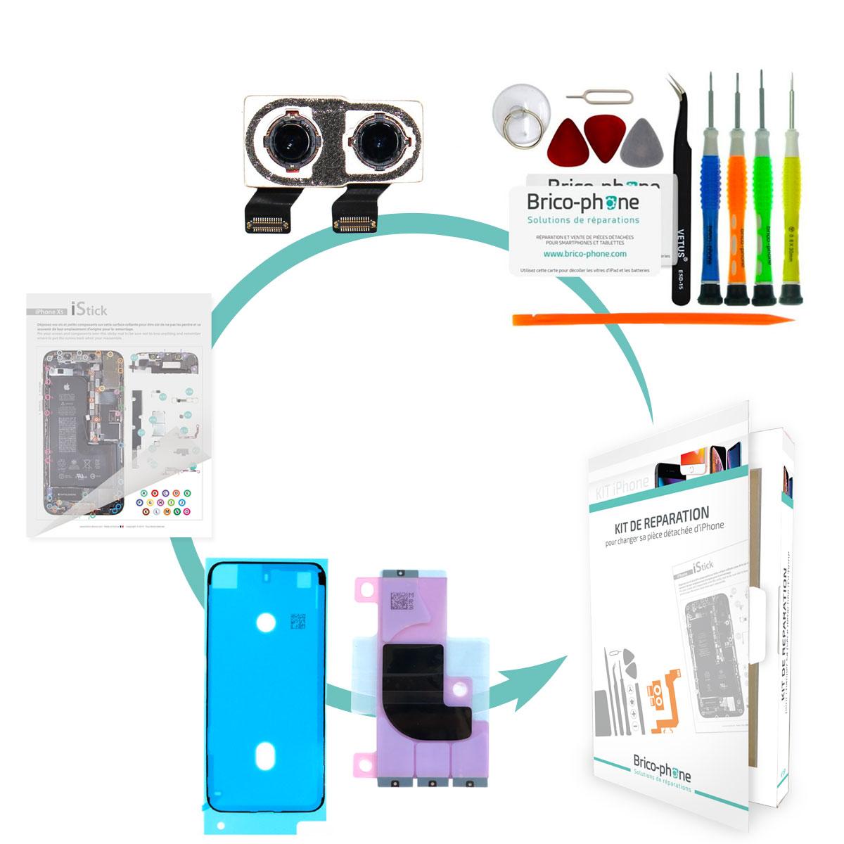 Kit Brico-phone pour changer la caméra arrière iPhone X