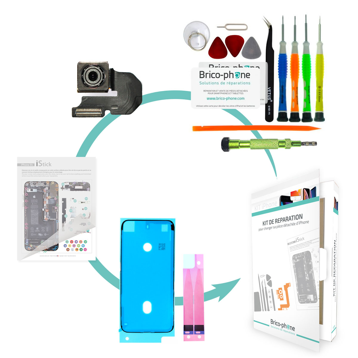 Kit Brico-phone pour changer la caméra arrière iPhone 6S