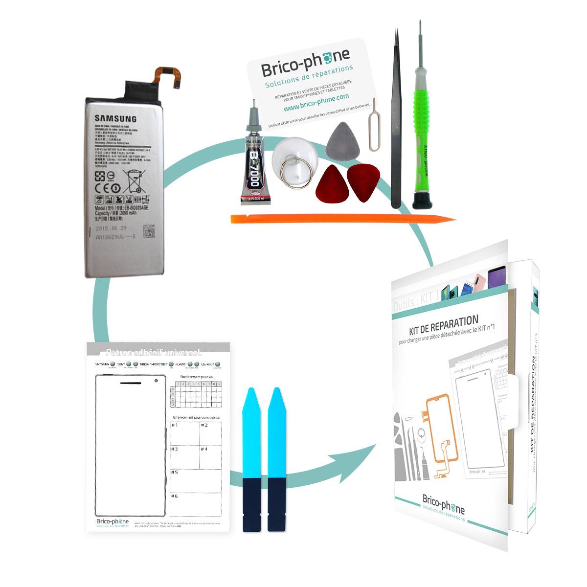 Kit pour remplacer la batterie Samsung Galaxy S6 Edge