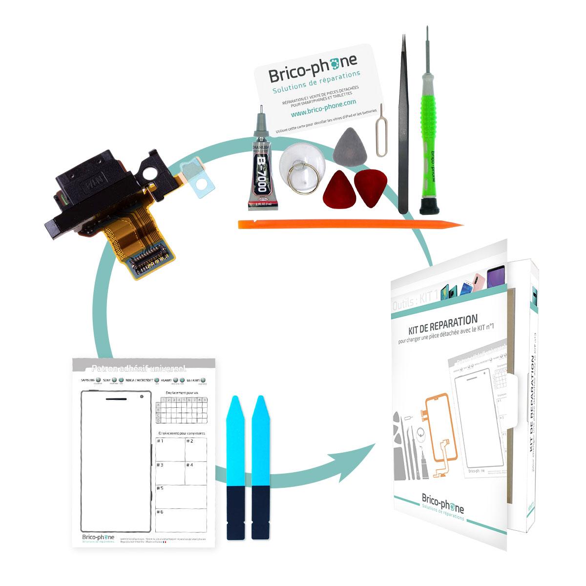Kit pour remplacer le connecteur de Charge Sony Xperia X / X DUAL