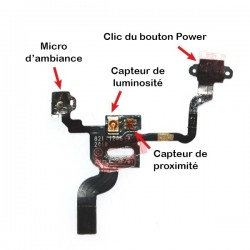Nappe capteur de proximité + connecteur bouton power iPhone 4 photo 3