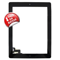 Vitre tactile noire prémontée avec sticker et bouton home pour IPad 2 qualité supérieure photo 2
