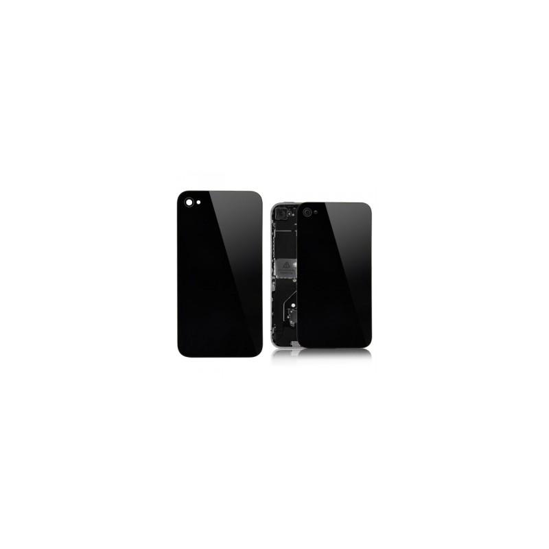 Vitre arrière Noire unie pour iPhone 4 complète avec châssis prémonté photo 2
