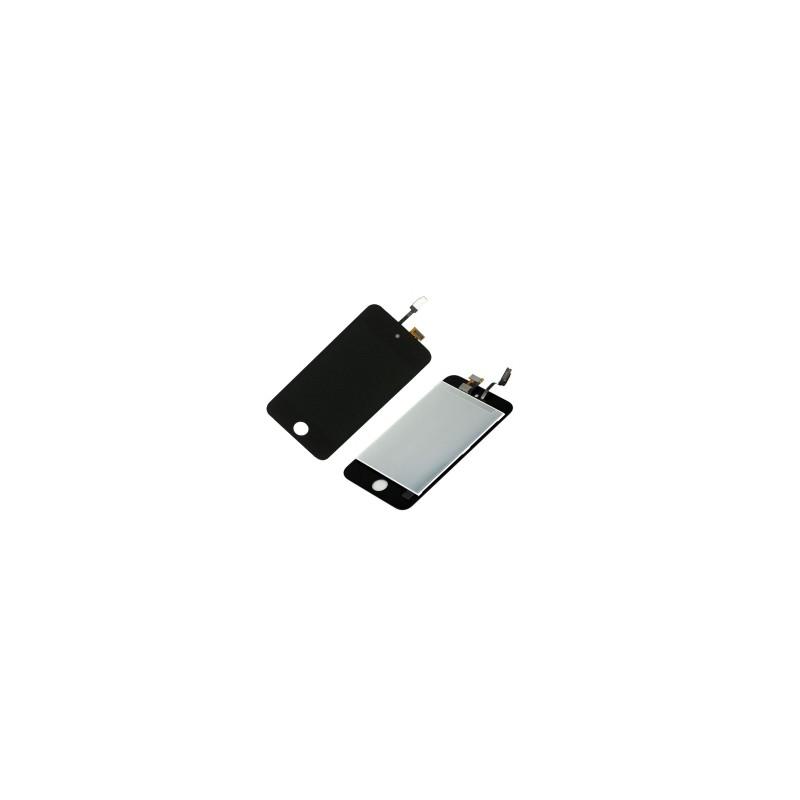 Ecran Ipod touch 4 eme géneration vitre tactile noir + LCD Prémonté photo 1