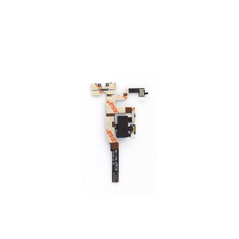 Nappe prise jack + mute et volume + micro d'ambiance pour iPhone 4S Noir photo 2