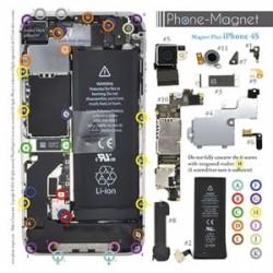 Patron magnétique d'aide au montage pas à pas pour iPhone 4S photo 2