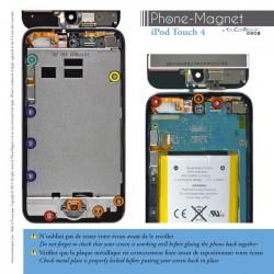 Patron magnétique d'aide au montage pas à pas pour iPod Touch 4 photo 2