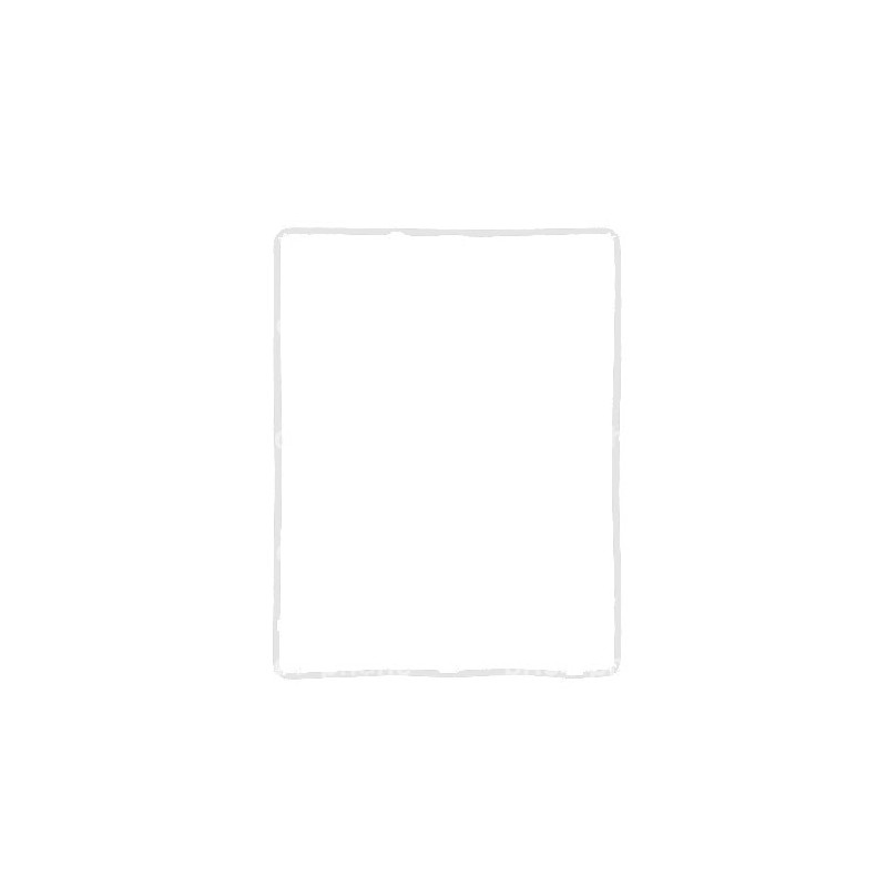 Joint blanc (contour de la vitre) autocollant pour iPad 4 photo 2
