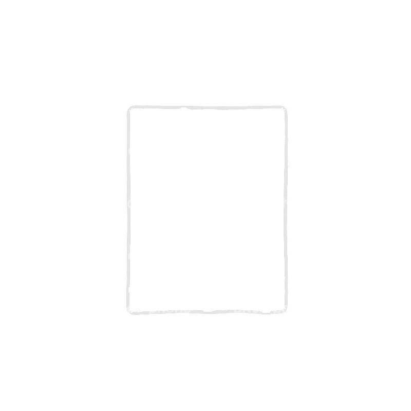 Joint blanc (contour de la vitre) autocollant pour iPad 4 photo 2
