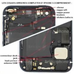 Coque arrière Noire pour iPhone 5 complète photo 5