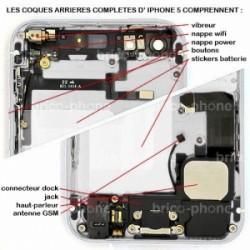 Coque arrière Silver pour iPhone 5 complète photo 5