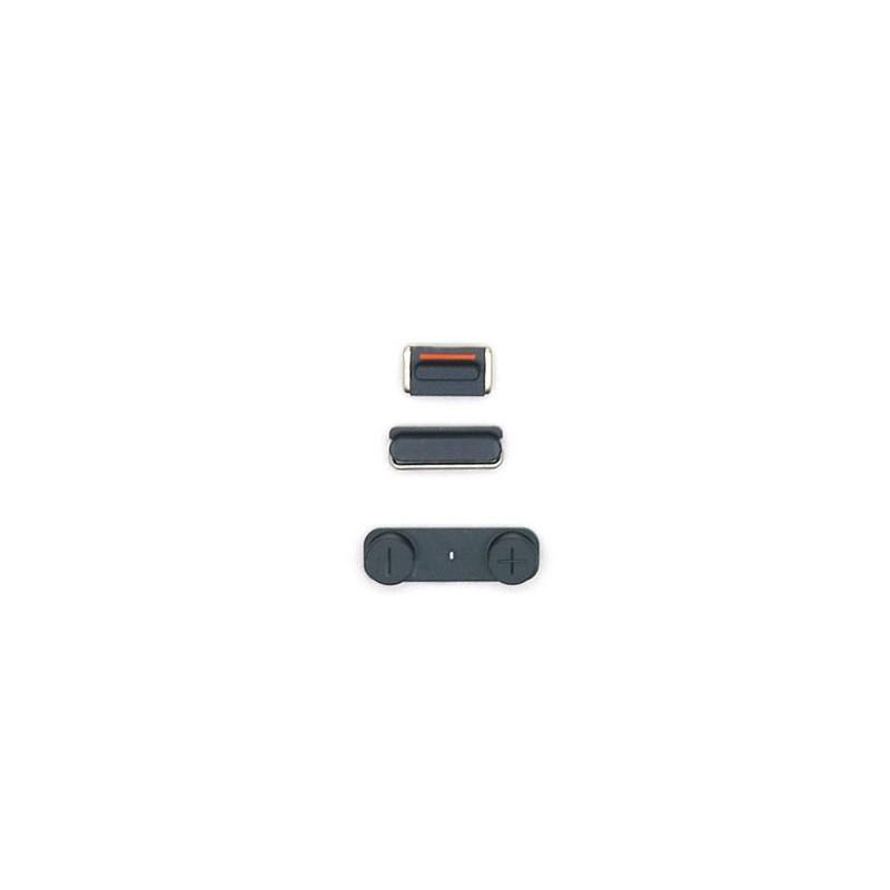 Lot de 3 boutons Bouton Power Mute et volume pour iPhone 5 Noir photo 1