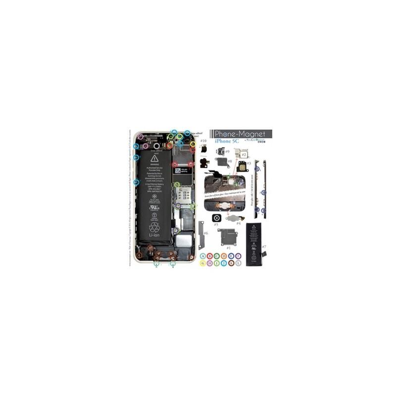 Patron magnétique d'aide au montage pas à pas pour iPhone 5C photo 2