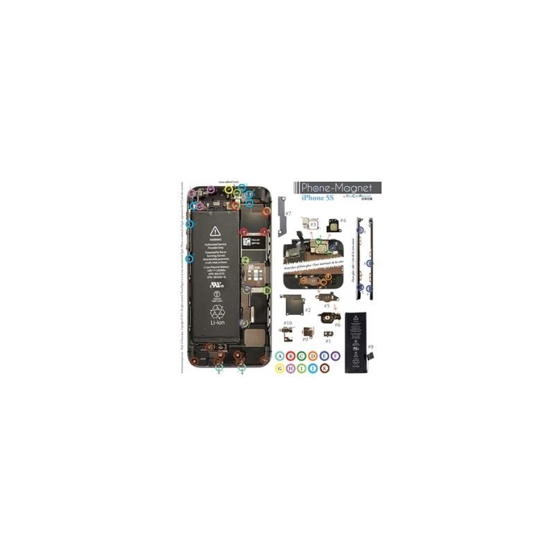 Patron magnétique d'aide au montage pas à pas pour iPhone 5S et SE photo 2