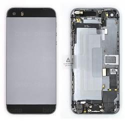 Coque arrière Noire pour iPhone 5S complète photo 2