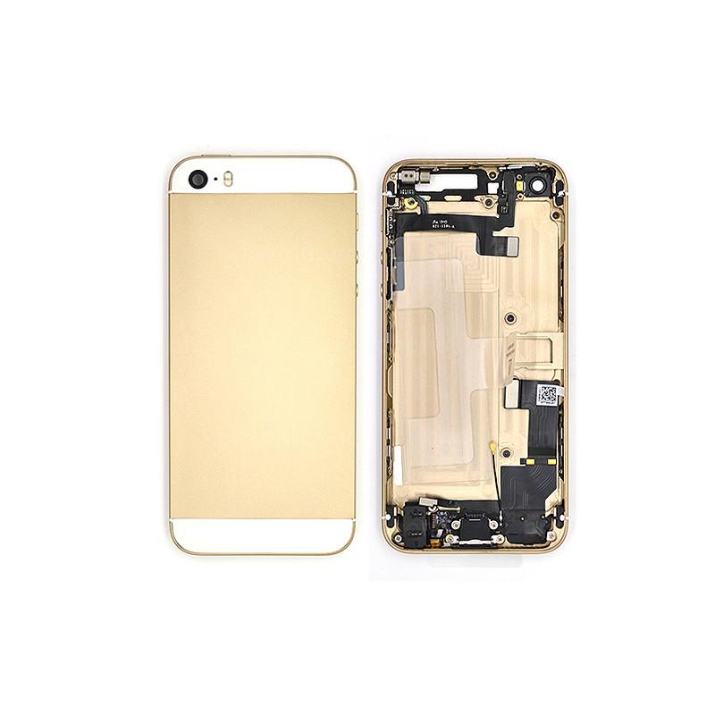 Coque arrière Or pour iPhone 5S complète photo 2