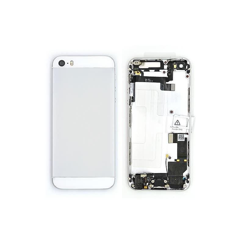 Coque arrière Silver pour iPhone 5S complète photo 2