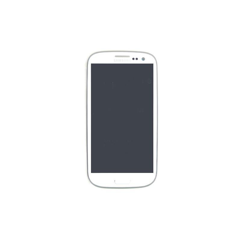 Ecran BLANC prémonté sur châssis pour Samsung Galaxy S3 photo 2