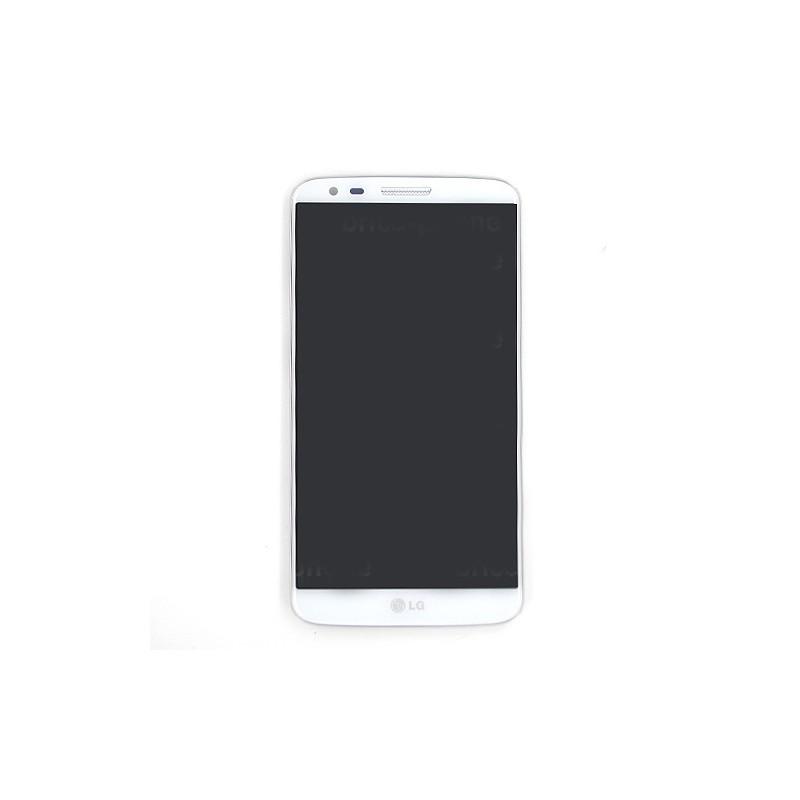 Bloc écran avec châssis (vitre et LCD) pour LG Optimus G2 BLANC photo 2