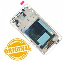 Bloc écran avec châssis (vitre et LCD) pour LG Optimus G2 BLANC photo 3