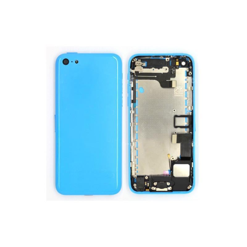 coque arriere bleue pour iphone 5c