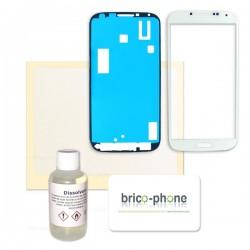 Kit complet pour changer la vitre BLANCHE de votre Samsung Galaxy S4 photo 2