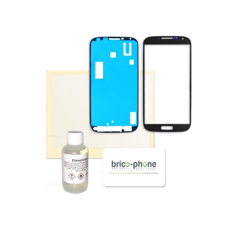 Kit complet pour changer la vitre NOIRE de votre Samsung Galaxy S4 photo 2