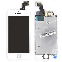 Ecran BLANC iPhone 5S RAPPORT QUALITE / PRIX pré-assemblé photo 1