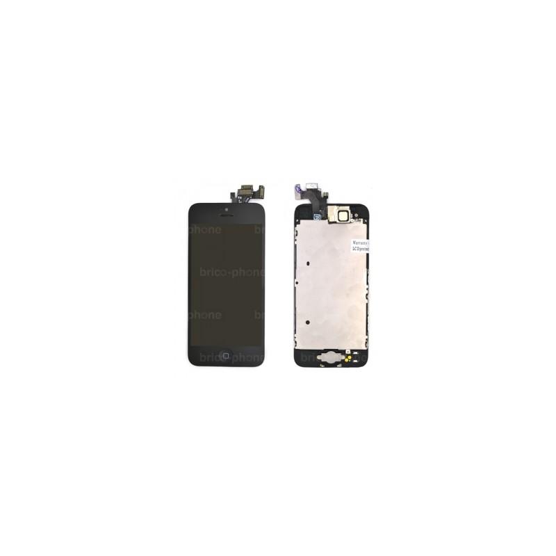 Ecran NOIR iPhone 5 PREMIUM pré-assemblé photo 1