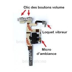Nappe complète prise Jack + mute et volume pour iPhone 4S Noir photo 3