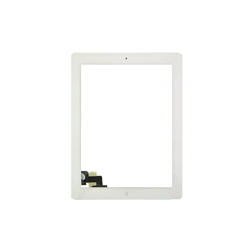 Vitre tactile blanche prémontée pour IPad 2 qualité STANDARD photo 2