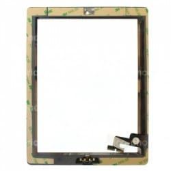 Vitre tactile noire prémontée pour IPad 2 qualité STANDARD photo 3