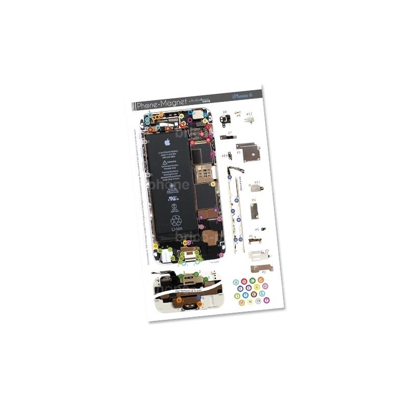 Patron magnétique d'aide au montage pas à pas pour iPhone 6 photo 2