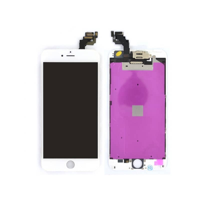 Ecran BLANC iPhone 6 PLUS PREMIUM pré-assemblé photo 2