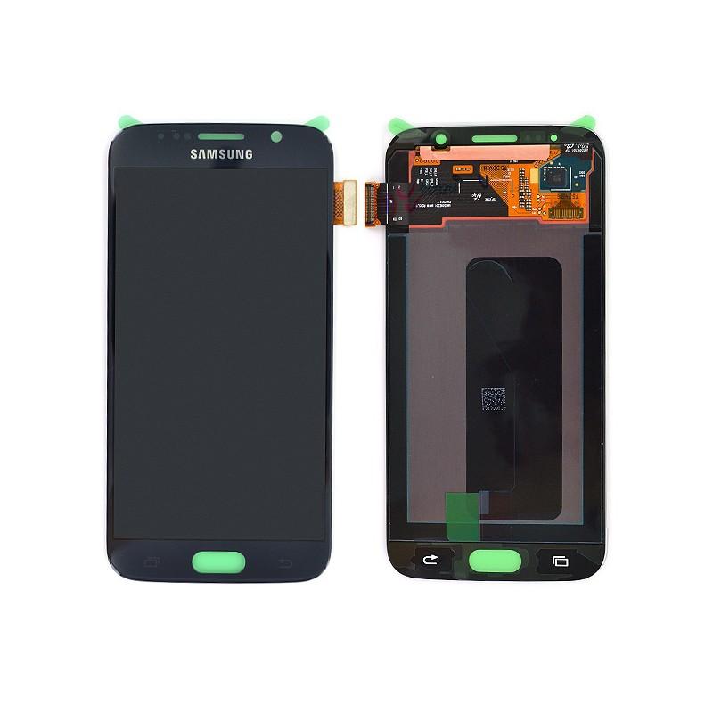 Ecran Amoled NOIR et vitre prémontés pour Samsung Galaxy S6 photo 2