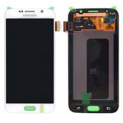 Ecran Amoled Blanc et vitre prémontés pour Samsung Galaxy S6 / S6 Dual SIM photo 2