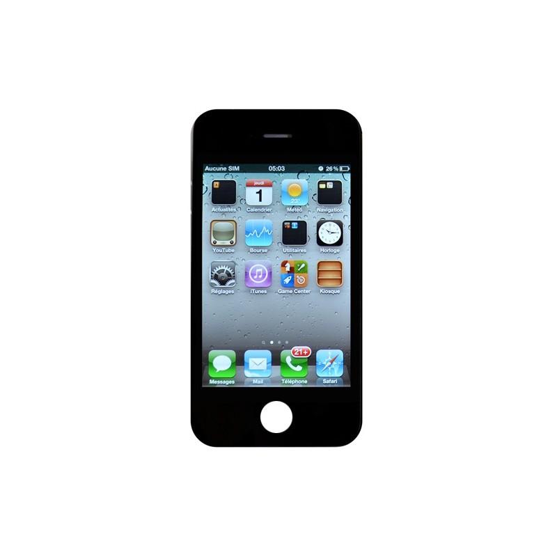 ecran noir iphone 4s premium pour changer votre cran si il ne fonctionne plus ou la vitre est. Black Bedroom Furniture Sets. Home Design Ideas