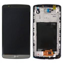 Bloc écran avec châssis (vitre et LCD) pour LG G3 Noir Métallique photo 2