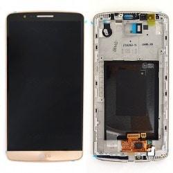 Bloc écran avec châssis (vitre et LCD) pour LG G3 GOLD photo 2