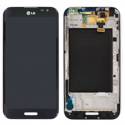 Bloc écran NOIR avec châssis (vitre et LCD) pour LG Optimus G Pro photo 2