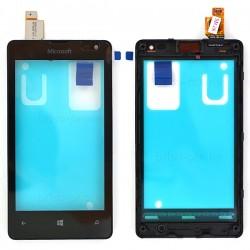 Vitre Noire pour NOKIA Lumia 435 / 435 Dual Sim / 532 / 532 Dual Sim photo 2