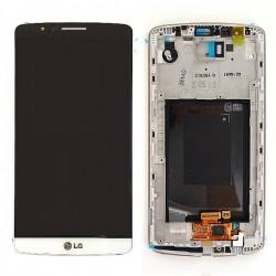 Bloc écran avec châssis (vitre et LCD) pour LG G3 BLANC photo 2