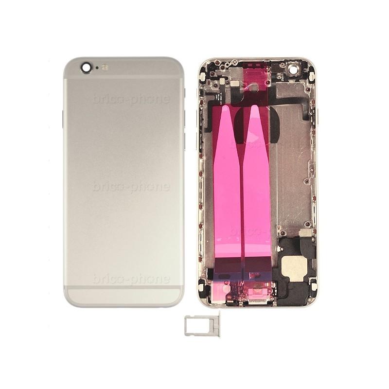 Coque arrière Silver pour iPhone 6 complète photo 2