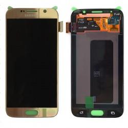 Ecran Amoled Or et vitre prémontés pour Samsung Galaxy S6 photo 2