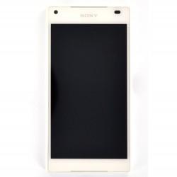 Bloc écran blanc avec châssis pour Sony Xperia Z5 Compact photo 2