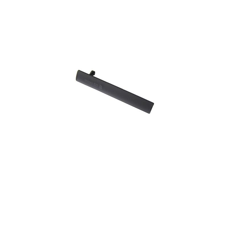 Cache de protection Port USB et carte MICRO SD pour Sony Xperia Z3 Compact NOIR photo 2