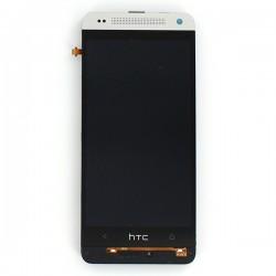 Bloc écran SILVER COMPLET prémonté sur chassis pour HTC One mini photo 2