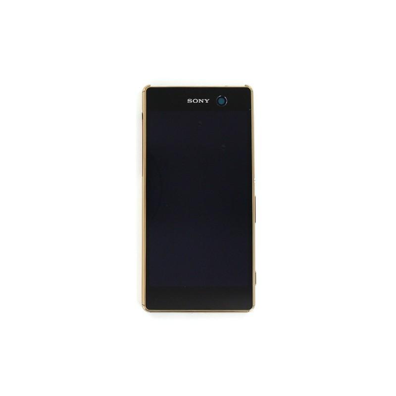 Bloc Ecran Or avec châssis pour Sony Xperia M5 /M5 DUAL SIM photo 2