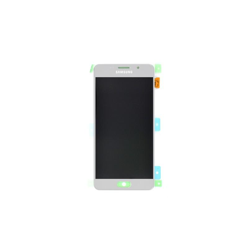 Bloc Ecran Blanc avec vitre + Amoled pour Samsung Galaxy A5 2016 photo 2
