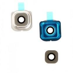 Lentille de protection caméra pour Samsung Galaxy S6 Edge Or photo 2